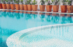 Swimming pool. The part of swimming pool Stock Photography