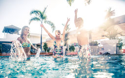 Swimming pool party Royalty Free Stock Photography