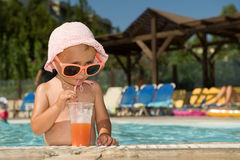 Swimming pool party Royalty Free Stock Photo