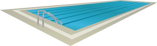 Swimming pool, perspective view. Vector illustration vector illustration