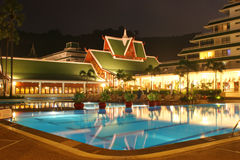 Swimming pool in Phuket Stock Photography