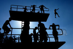 Swimming pool platform Stock Photo