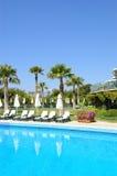 Swimming pool at popular hotel Royalty Free Stock Image