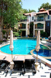 Swimming pool at the popular hotel Royalty Free Stock Image