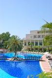 Swimming pool at popular hotel, Antalya, Turkey Royalty Free Stock Photo