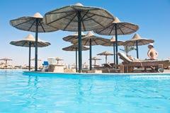 Swimming pool in popular resort. royalty free stock image