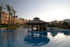 Swimming pool in popular resort. 5 star hotel's swiming pool in Hurgada, Egypt Royalty Free Stock Photography
