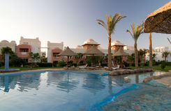 Swimming pool in popular resort. 5 star hotel's swiming pool in Hurgada, Egypt Royalty Free Stock Images
