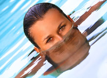 Swimming pool portrait Royalty Free Stock Photo