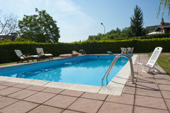 Swimming pool  of a private home Royalty Free Stock Photography