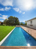 Swimming pool of a private residence Stock Photo