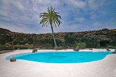 Swimming Pool, Property, Resort, Palm Tree royalty free stock photography
