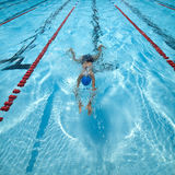 Swimming pool in a race. Stock Photos