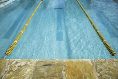 Swimming pool with race track Royalty Free Stock Images