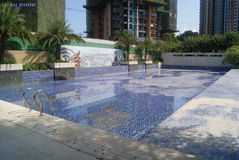 Swimming pool in the residential area Stock Image