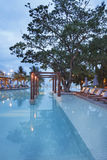 Swimming pool at resort Stock Images