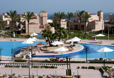 Swimming pool resort Stock Photography