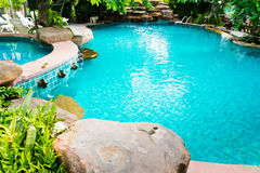 Swimming pool in the resort. Stock Image