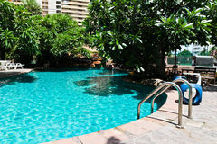 Swimming pool in the resort. Royalty Free Stock Images