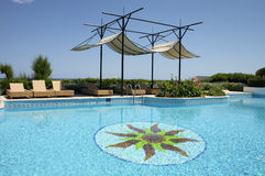 Swimming pool in resort Stock Photo