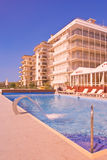 Swimming pool in a resort Stock Photo