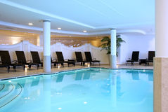 Swimming pool resort. A luxury swimming-pool in a Spa resort royalty free stock image