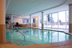 Swimming pool resort. A luxury swimming-pool in a Spa resort stock photo