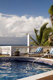 Swimming pool at resort Big Corn Island Nicaragua  Stock Photos