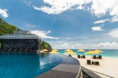 Swimming pool in resort. Boracay Stock Photos