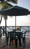 Restaurant bar deck over Caribbean Sea resort   Bi Royalty Free Stock Photography