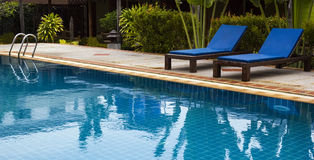 Swimming pool in  resort Stock Photography