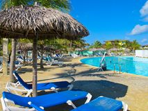 Swimming Pool at the Resort (Cuba, Caribbeans) Royalty Free Stock Photography