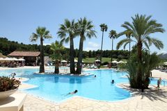 Swimming pool Resort Denia Alicante Spain Royalty Free Stock Photography