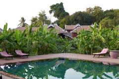 Swimming pool of resort hotel Royalty Free Stock Photos