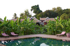 Swimming pool of resort hotel Royalty Free Stock Images
