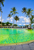 Swimming pool in resort at Koh Chang in Thailand. Swimming pool and Palm tree  in resort at Koh Chang in Thailand Stock Images