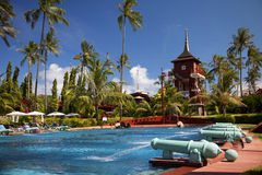 Swimming-pool in a resort in Koh Samui, Thailand Stock Images