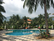 Swimming pool at the resort in Krabi, Thailand Stock Photos