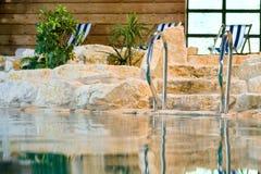 Swimming pool resort luxury Stock Photography