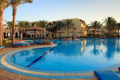 Swimming pool in resort of Sharm el Sheikh Royalty Free Stock Photo