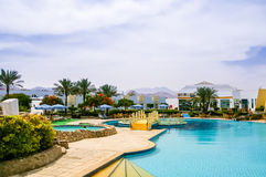 Swimming pool of the resort Stock Photography