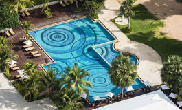 Swimming pool in the resort. Stock Photos