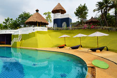 Swimming pool resorts. Tropical swimming pool in resorts Stock Photography