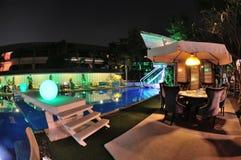 Swimming pool restaurant Stock Photos