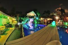 Swimming pool restaurant Stock Photo