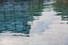 Swimming pool rippled water Royalty Free Stock Photo