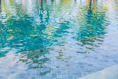 Swimming pool rippled water Stock Images