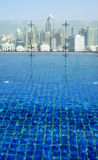 Swimming pool on the roof Royalty Free Stock Image