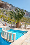 Swimming pool on roof of appartment under climbing area, Grande Royalty Free Stock Image