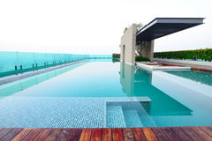 Swimming pool on rooftop Stock Image